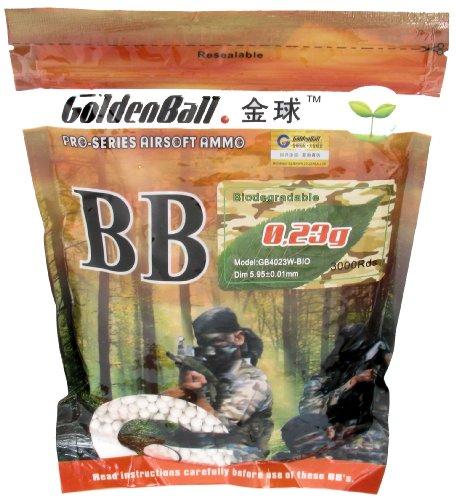 0,23 Gramm 6 mm GoldenBall Softairkugeln Bio BB Weiß 3000 Stück - Pro Series