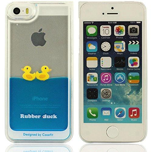 iPhone 5 Coque,iPhone 5 case,3D bouder canard en caoutchouc Différentes couleurs fluides plastique liquide silicone souple Housse Coque de protection pour Apple iPone 5 5S 5G (couple Ducks) bouder canard