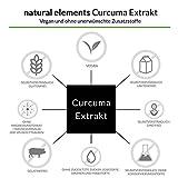 Curcuma Extrakt Kapseln - Vergleichssieger 2019* - Curcumingehalt EINER Kapsel entspricht dem von ca. 10.000mg Kurkuma - Hochdosiert aus 95% Extrakt - Laborgeprüft und hergestellt in Deutschland - 4