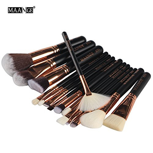 Make-up Pinsel Makeup Bürsten Set 15 Stück Bürsten Kosmetik Pinselet Contouring Foundation Blush Eyeliner Eyeshadow Lip Brushes Tool (A)