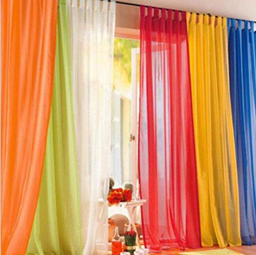 Yosoo 1 pz, colore trasparente, elegante tenda plissettata per porta a pannello in tulle balcone room divider colorata sciarpa per la camera da letto, sala da pranzo, in cucina, cameretta rosso