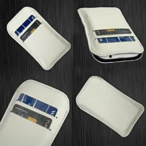 i-KitPit Quality PU Leather Pouch Case Cover For HTC One Max (WHITE)
