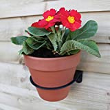 Eco Recycled Vertical Garden Plant Pot Holder for Hanging 5-6 inch Pots on Fence or Wall - Set of 3