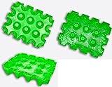 3 (Stück) x sl-EISBLOCK 0,5 Liter # neon - grün # Made in Germany # bis der Grill heiß ist - sind die Biere kühl # Bierkühler # Bierkastenkühler # Bier Kühler für Kiste Kasten # Bierkiste Bierkasten Bierkisten (neon - grün)