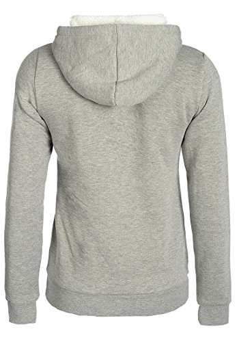 DESIRES Derby Pile - Sweat à capuche - Femme Light Grey Melange (8242)