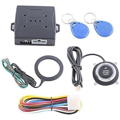Smart RFID Alarma Coche Sistema Con Dedo Iniciar Presión Arranque Motor Pare & Transpondedor Inmobilizador Llavero Go sistema