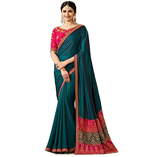 Macube Women's Latests Multi Color Latest 2018 Designer Partyware Sarees New Collection 2018 today Best Offer Low Price Saree With Blouse Piece