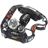 Boruit JR-3000 4000Lm 3X CREE XM-L T6 LED Headlamp Super Bright Headlight for Outdoor Activities, such as Camping, Traveling, Hiking, etc.with 4 Modes + Charger (No Battery)