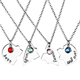 Jovivi 4PC/set argentato Best Friend Forever and ever a forma di cuore puzzle Bbf amicizia Pendant Necklace Jewelry Set