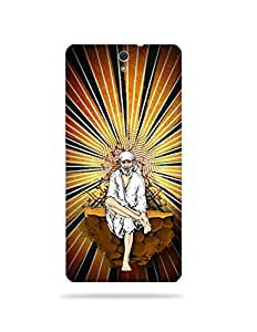 alDivo Premium Quality Printed Mobile Back Cover For Sony Xperia C5 / Sony Xperia C5 Printed Shri Sai Baba Mobile Case / Cover (MKD076)