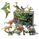 GizmoVine Juego de Dinosaurios Educativo Realista Figura de Dinosaurio 20 Piezas Juguete...