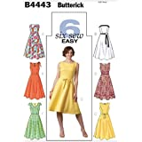 Butterick Patterns B4443 Size FF 16-18-20-22 Misses Petite Dress, Pack of 1, White