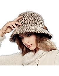 Kenmont Otoño Invierno Mujeres Mujer Lana de Punto Ancho el ala Exterior Tapa  Cubo Sombrero 56bbd591e30