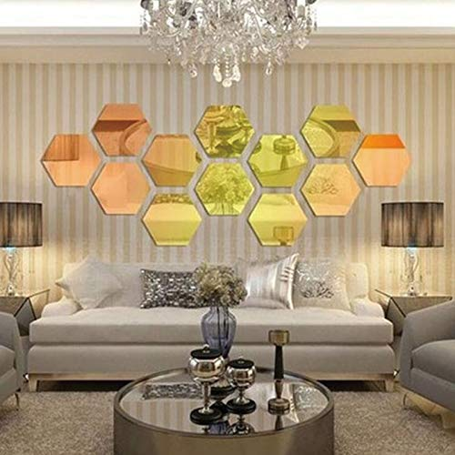 wandaufkleber kinderzimmer spiegel Modern Style Acryl Große 20 cm Hexagon Spiegel 3d Wandaufkleber Korridor Sofa Dekoration 12 teile/los