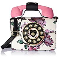 Betsey Johnson womens Mini Purple Flower Print Phone Bag Multi Size: One size