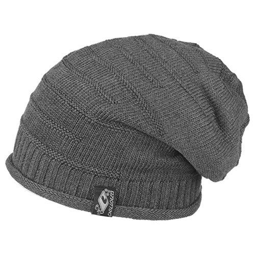 Long Beanie oversize Mütze für Damen Herren Mütze caps unisex (grau)