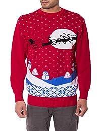 Jiayiqi, maglione natalizio unisex, stile vintage anni '70