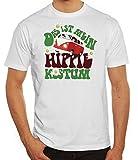 ShirtStreet Fasching Karneval Herren T-Shirt mit Das ist Mein Hippie Kostüm Motiv