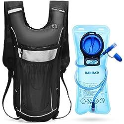 RANIACO Zaino Idratazione, Running Hydration Pack con 2L acqua vescica per Ciclismo Escursionismo Corsa Bicicletta Campeggio Alpinismo Zaini Porta Sacca Acqua Backpack di Campeggio