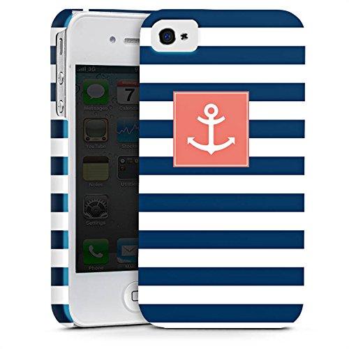 Apple iPhone 6s Hülle Case Handyhülle Anker Streifen Maritim Premium Case glänzend
