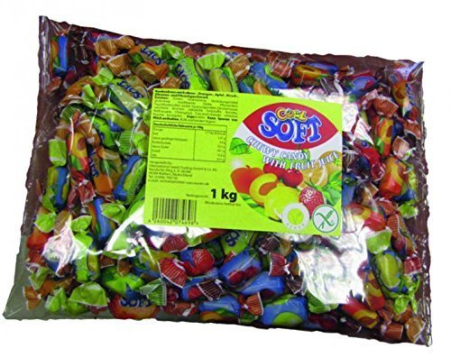 Preisvergleich Produktbild Cool Soft Kaubonbons im Beutel,  1er Pack (1 x 1 kg)