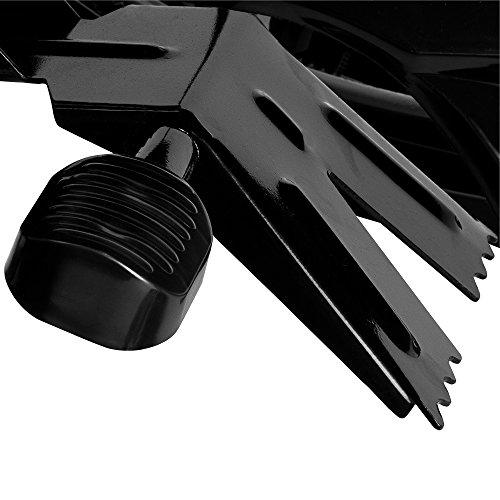 Monzana® Lenkschlitten KJ-5000 Rennschlitten Sportrodel Schlitten Kinderschlitten Rodelschlitten Bob schwarz ✔mit 2 Fußbremsen ✔autom. Zugseil ✔3-fach verstellbare Sitzbank ✔Stahlrahmen