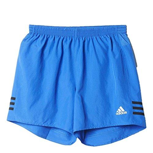 adidas Herren Laufshorts Response 5 Short, Blau/Schwarz, L -