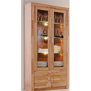 vitrine kernbuche massiv ge lt k che haushalt. Black Bedroom Furniture Sets. Home Design Ideas