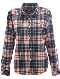 Hengsong-Style Européen-Mode-Manches Longues-Courful-Désinvolte-Revers T-shirts-Plaid-Flannel-Chemises-Tops-Femme