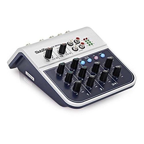 SubZero SZ-MIX04 Mini Mixer da 4 canali - 4 Canali Mini Mixer
