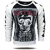 Rusty Neal Herren Sweatshirt Longsleeve Pullover Langarmshirt Pulli A1-RN9600, Größe:XXL, Farbe:Weiß