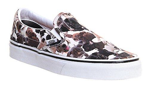 Vans U Classic, Unisex - Erwachsene Sneaker Weiß (White-dogs)