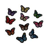 #9: Segolike 10Pcs Embroidery Sewing On Patch Embroidered Fabric Applique DIY