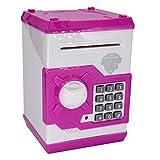 Elektronische Spardose von Apuppy, Cartoon-Passwort Sparschwein, Spielzeug, Geschenk zum Geburtstag Geschenke für Kinder, pink / weiß