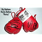 Autographed Mini boxing Gloves Rocky Balboa (Sly Stallone)
