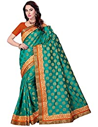Rani Saahiba Art Silk Attached Border Saree