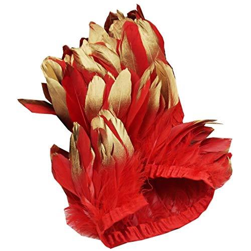 Rote Feder Kostüm - ERGEOB Ente Feder Stoffstreifen 2 Meter