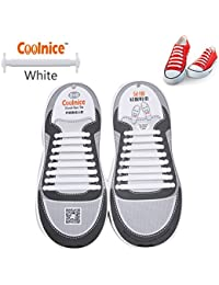 coolnice Lacets Elastiques No Tie Lacets pour Chaussures Enfants Adultes Pratique Imperméables Silicon Etanche sans Laçage pour Sports Shoes Sneaker Conseil Bottes
