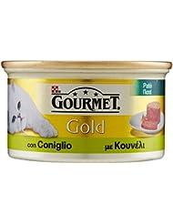 Gourmet Gold Gatto Patè con Coniglio, 85 g - Confezione da 24 Pezzi