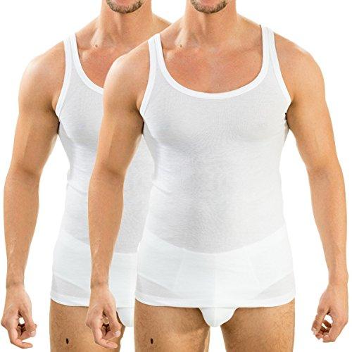 HERMKO 63000 Herren Funktionsunterhemd 2er Pack (Weitere Farben), Farbe:weiß, Größe:D 6 = EU L