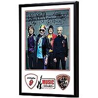 Music Stars Rolling Stones Bass Picks Gerahmte Anzeige Plektren
