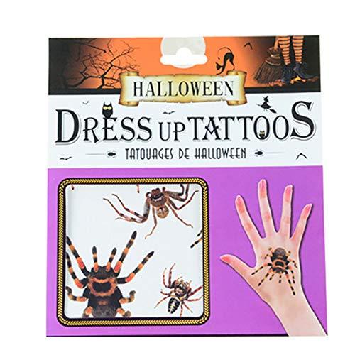 Halloween Tattoo Sticker Wasserdichte 3D-Stick Narben gefälschte blutige Wunde temporäre Make-up-Requisiten Spinne