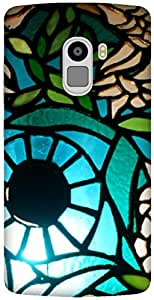 The Racoon Grip printed designer hard back mobile phone case cover for Lenovo K4 Note. (Blueberry)