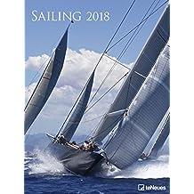 Kalender 2018 Posterkalender Sailing Segeln Wandkalender groß 48 x 64 cm Hochformat Sportkalender Regatten Segelkalender