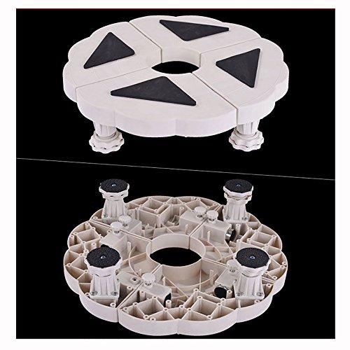 Verzinkt Solide Regal (QFFL Tablett Abgerundete Klimaanlage Basis / bewegliche Blume Regal / Multifunktions-Anhebungsklammer Elektrische dedizierte Basis ( Farbe : A ))