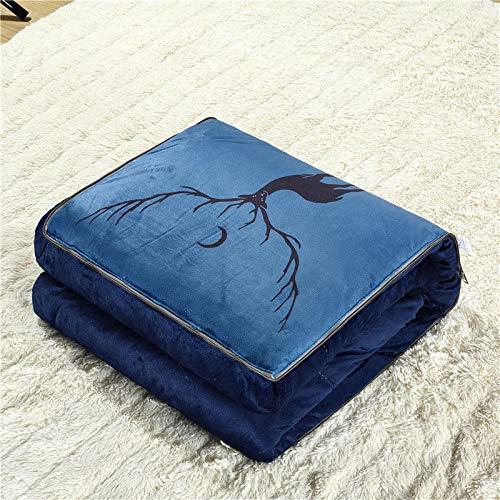 Sofa car Cushions Are Used Multi-Purpose dual-Purpose Sofa car Office nap Sofa Washed Cotton Pillows Are@Warm Velvet Deer Shadow_40*40M¡¾110 * 150M¡¿ - Dual Shadow