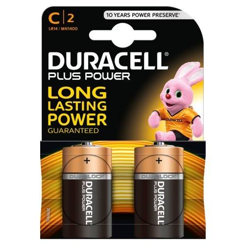 Duracell-Batterie alcaline Plus Power, C, 2 batterie