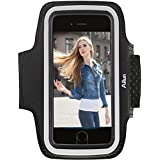 Ailun Phone Armband Compatible iPhone 8 7 X Xs Galaxy s10 s8 s9 S7 S6,Sport Anti slip,Slim Lightweight,Dual Arm-Size Slots,Sweat&Scratch Resistant Key Pocket,with Touch ID Headphone Port[Black]