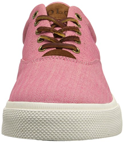 Ralph Lauren Mens Vaughn SK VLC Canvas Trainers Redwood
