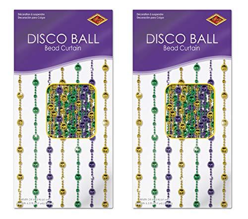 Beistle S50377-GGPAZ2 Vorhänge Disco Ball Perlen, 2 Stück, 78